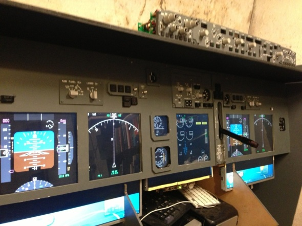 B737 Main instrument panel