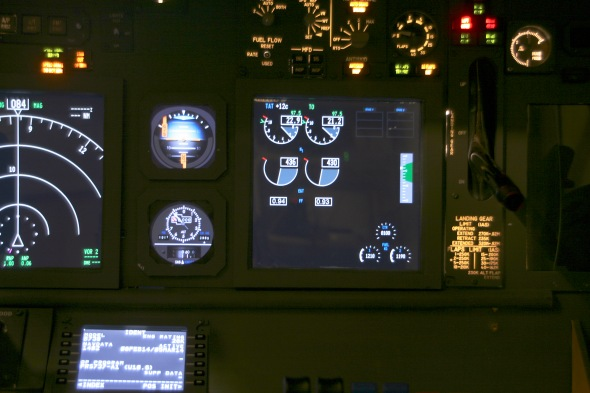 Center of the cockpit