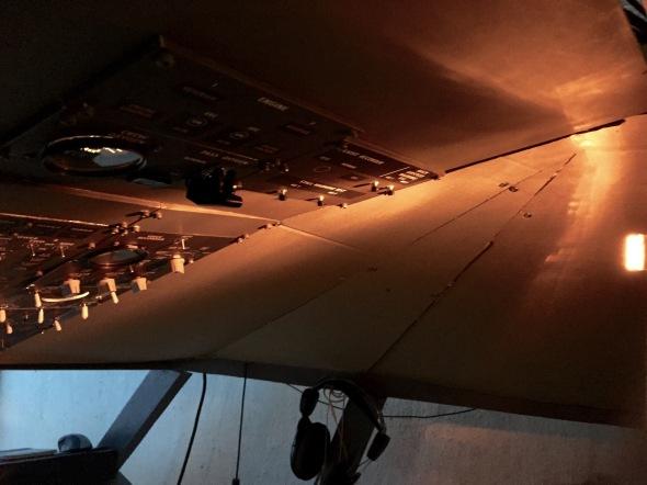 Ambient lightning inside the cockpit