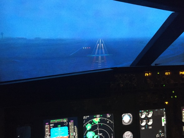 Just about to set those wheels on RWY 27 at Schiphol
